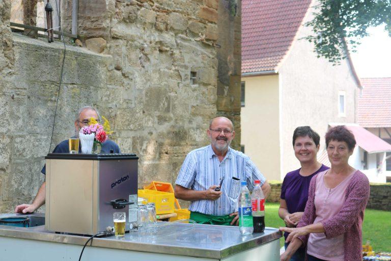 Die Helfer - K.-H. Freytag, L. Blankenburg, A. Walther, S. Hesse (v.l.)