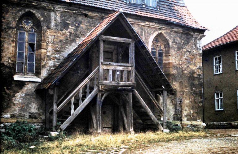 1970 er Jahre. Nördlicher Eingang mit Emporenaufgang